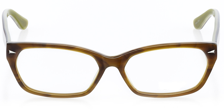 columbus: rectangle eyeglasses in green - front view