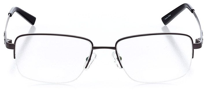 spanish banks: men's rectangle eyeglasses in gray - front view