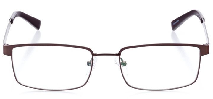 rockport: men's rectangle eyeglasses in brown - front view