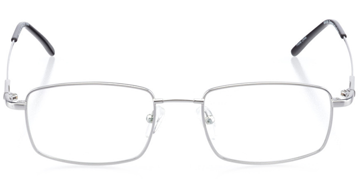 georgetown: men's rectangle eyeglasses in silver - front view