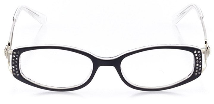 lecco: women's oval eyeglasses in black - front view