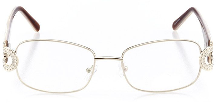 varese: women's rectangle eyeglasses in gold - front view