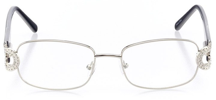 varese: women's rectangle eyeglasses in silver - front view