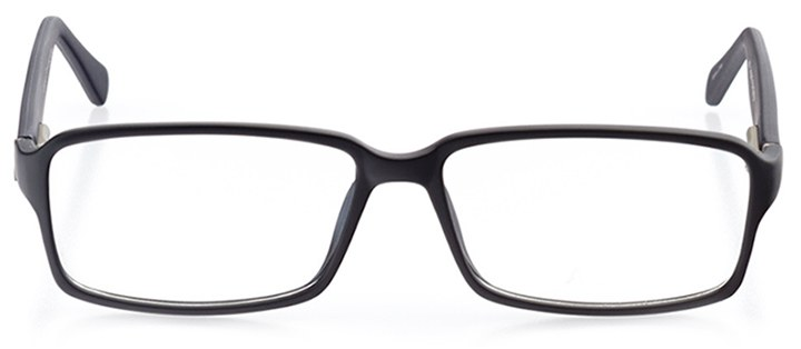vigo: men's rectangle eyeglasses in black - front view