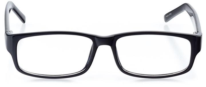 brescia: men's rectangle eyeglasses in black - front view
