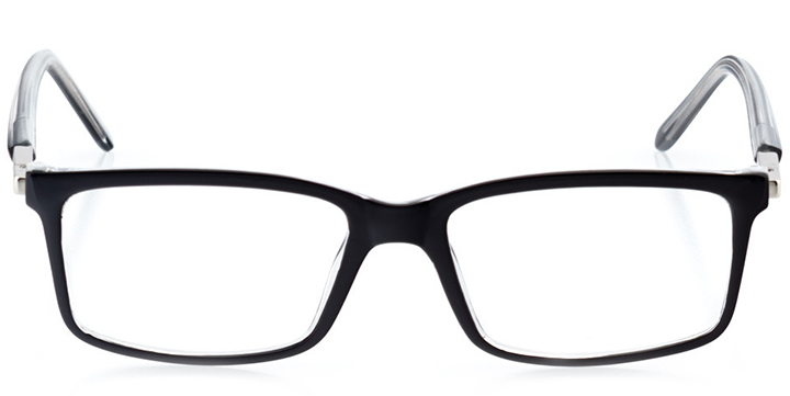 los angeles: men's square eyeglasses in black - front view