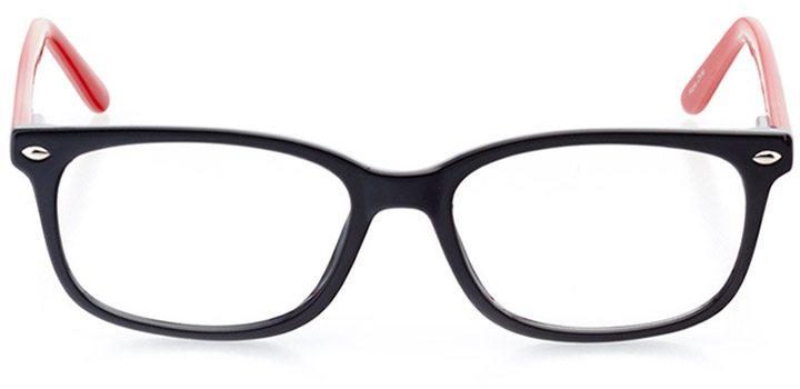 bangkok: women's rectangle eyeglasses in red - front view