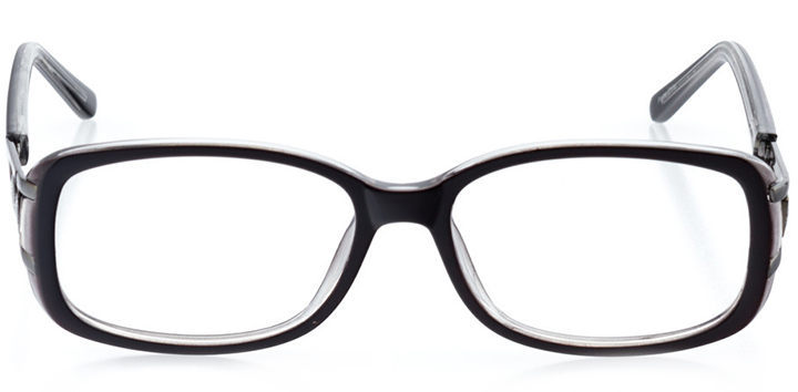 bonn: women's rectangle eyeglasses in black - front view