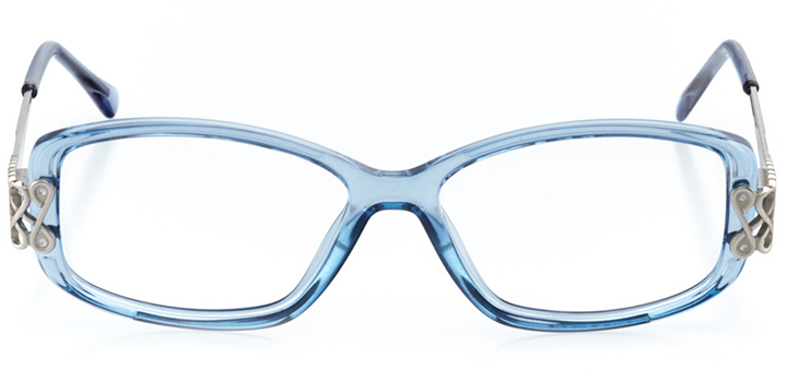 queenstown: women's rectangle eyeglasses in blue - front view