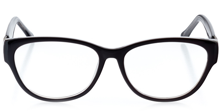 cairo: women's cat eye eyeglasses in crystal - front view