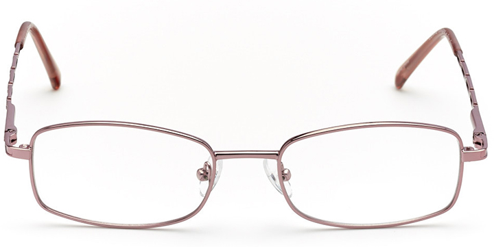 charlotte: women's rectangle eyeglasses in pink - front view