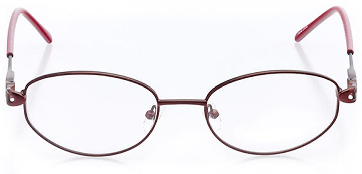easton: women's oval eyeglasses in red - front view