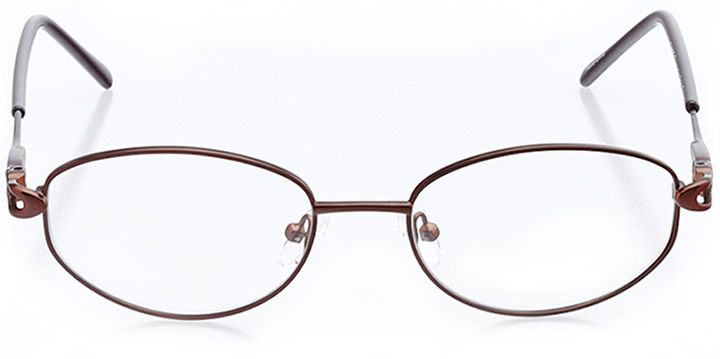 easton: women's oval eyeglasses in brown - front view
