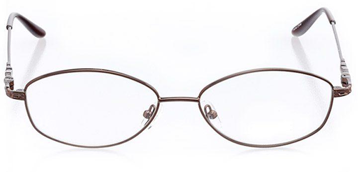mackinac island: women's oval eyeglasses in brown - front view