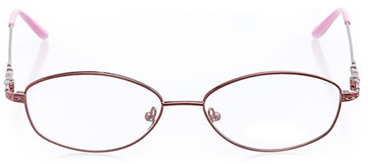 mackinac island: women's oval eyeglasses in red - front view