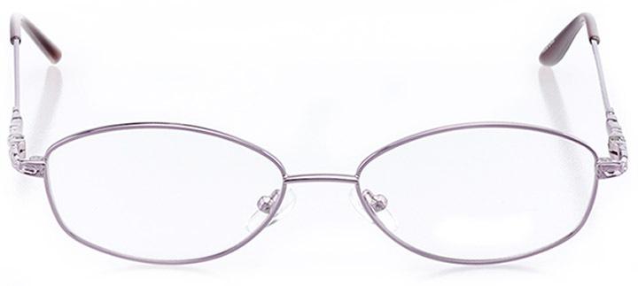 mackinac island: women's oval eyeglasses in purple - front view