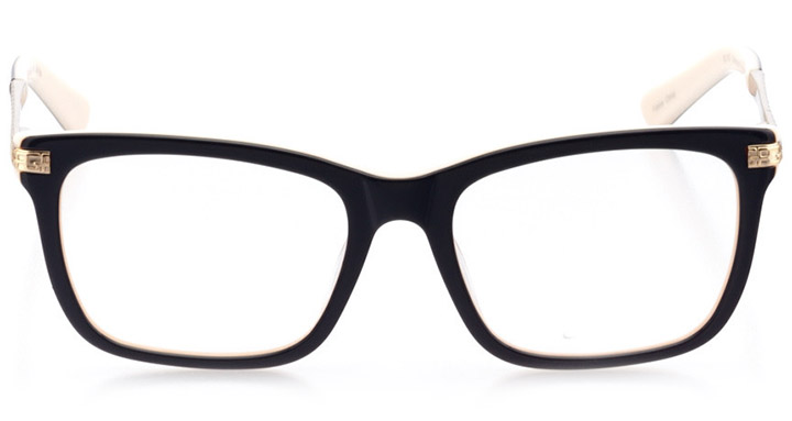 arcadia: women's square eyeglasses in pink - front view