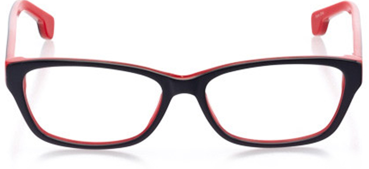westerly: women's cat eye eyeglasses in red - front view