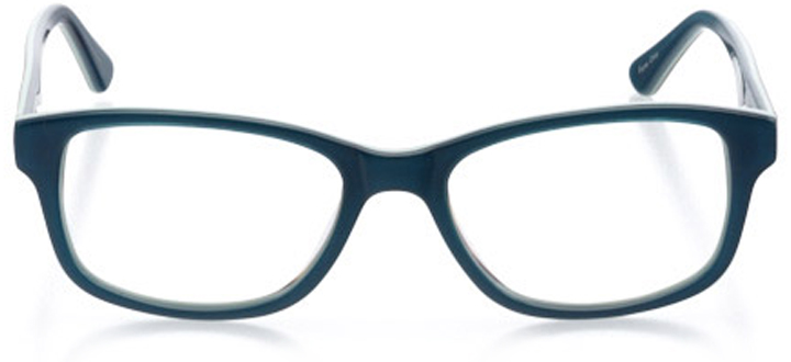athens: women's rectangle eyeglasses in green - front view