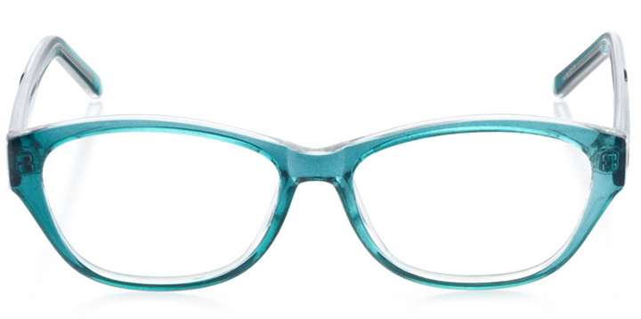 seattle: women's cat eye eyeglasses in blue - front view