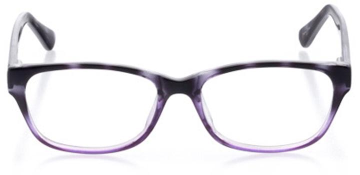 new orleans: women's cat eye eyeglasses in purple - front view