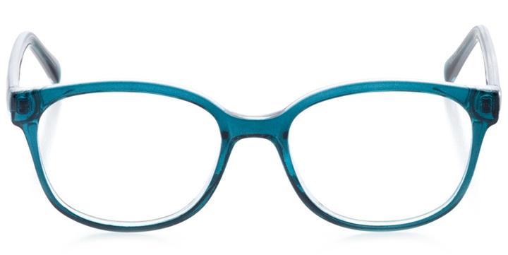 san francisco: women's cat eye eyeglasses in blue - front view