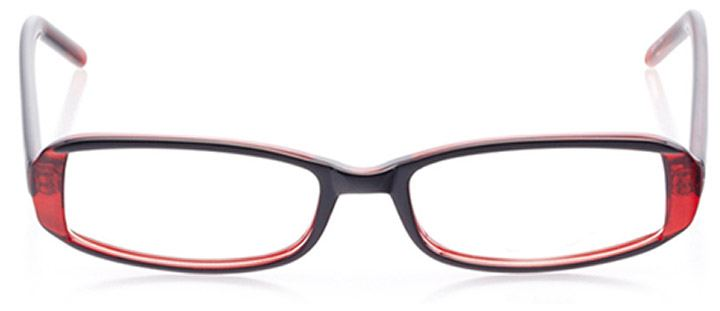 lafayette: women's rectangle eyeglasses in red - front view