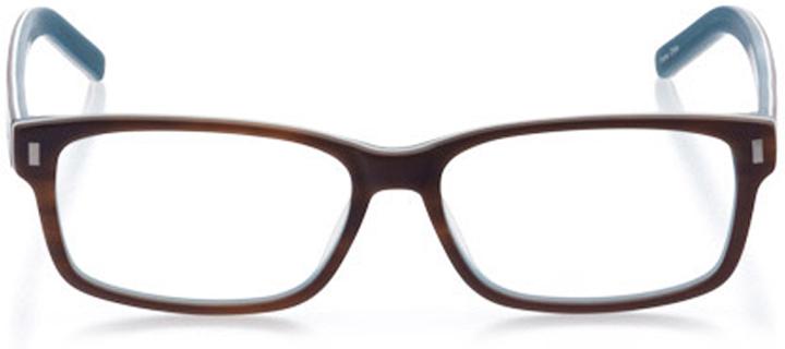 medford: men's rectangle eyeglasses in brown - front view