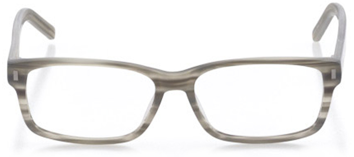 medford: men's rectangle eyeglasses in gray - front view
