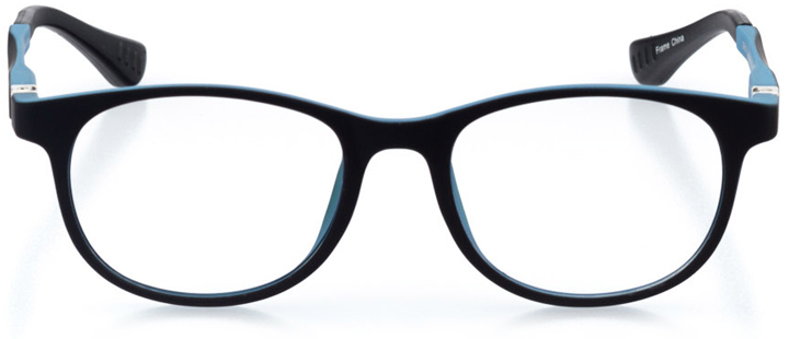 berkeley: round eyeglasses in blue - front view