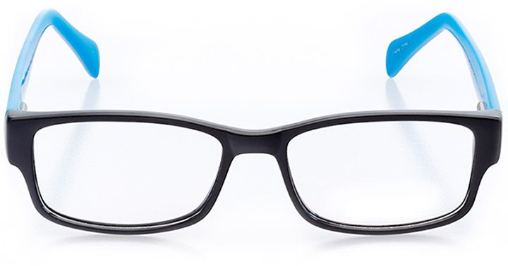 seaside: women's rectangle eyeglasses in black - front view