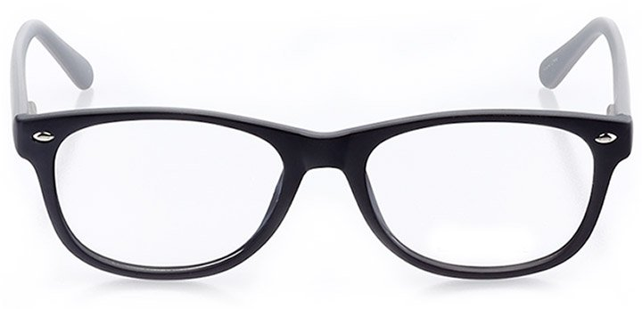 indian rocks beach: women's square eyeglasses in black - front view