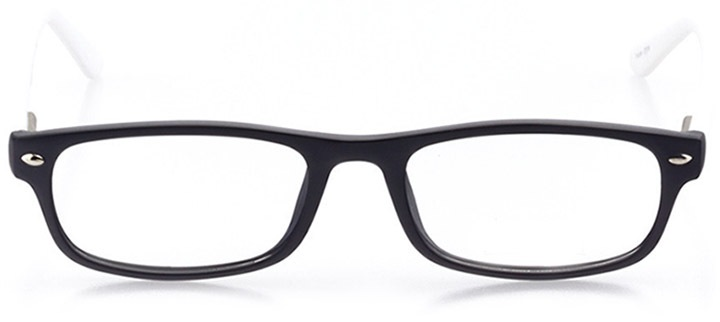 surf city: women's rectangle eyeglasses in black - front view