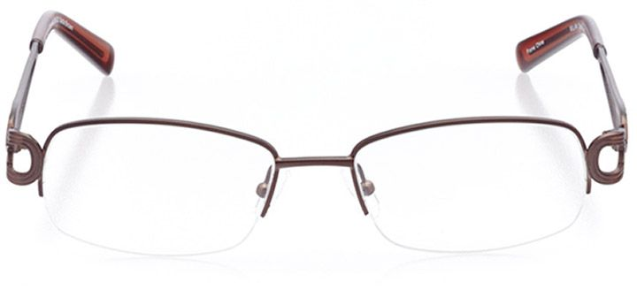 tuscania: women's rectangle eyeglasses in brown - front view