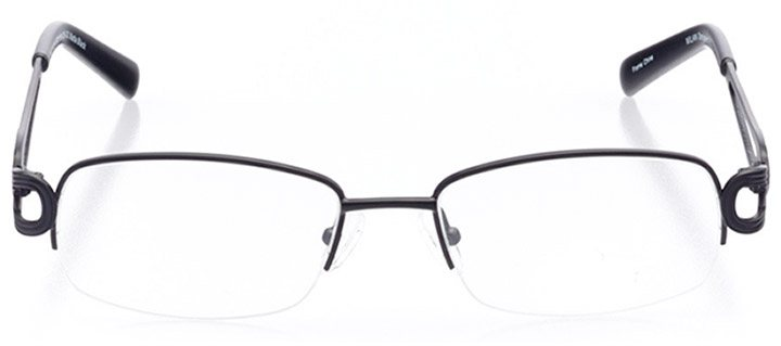 tuscania: women's rectangle eyeglasses in black - front view