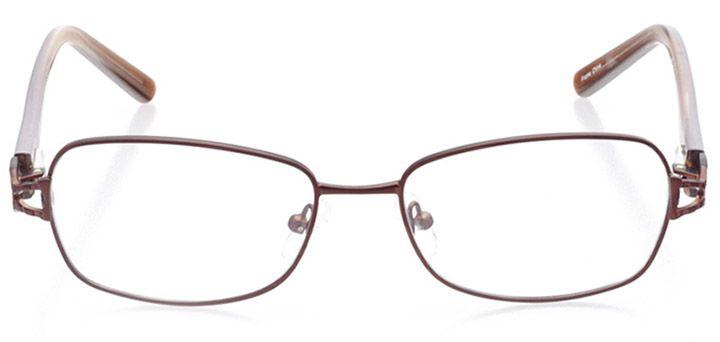 chiavari: women's rectangle eyeglasses in brown - front view