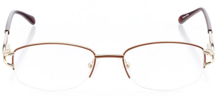 san remo: women's oval eyeglasses in brown - front view