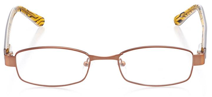 sarzana: women's rectangle eyeglasses in brown - front view