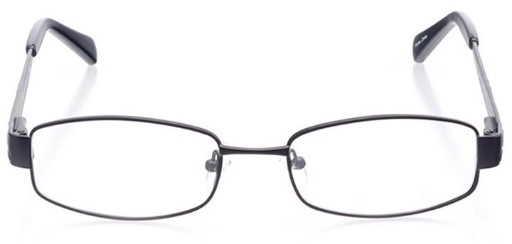 bergamo: women's rectangle eyeglasses in black - front view