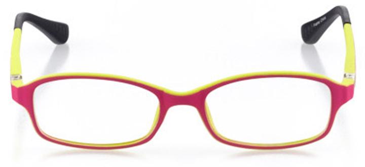 mendocino: girls' rectangle eyeglasses in purple - front view