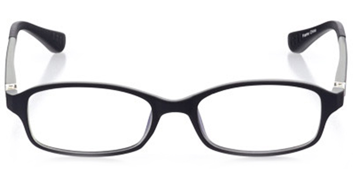tuscaloosa: rectangle eyeglasses in black - front view