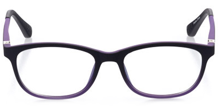 kalamazoo: girls' oval eyeglasses in purple - front view