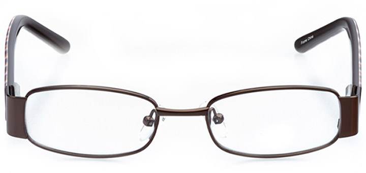 phoenix: girls' rectangle eyeglasses in brown - front view