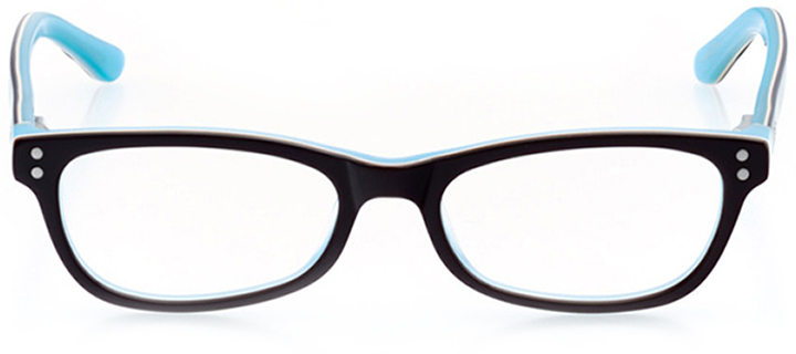 bellingham: rectangle eyeglasses in brown - front view