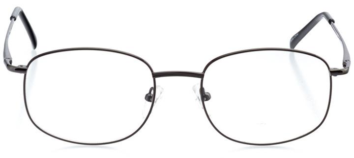 bozeman: men's oval eyeglasses in black - front view
