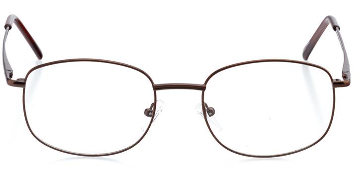 bozeman: men's oval eyeglasses in brown - front view