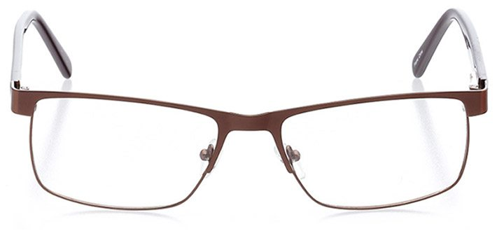granby: men's rectangle eyeglasses in brown - front view