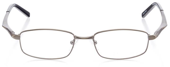 belmar: men's rectangle eyeglasses in gray - front view