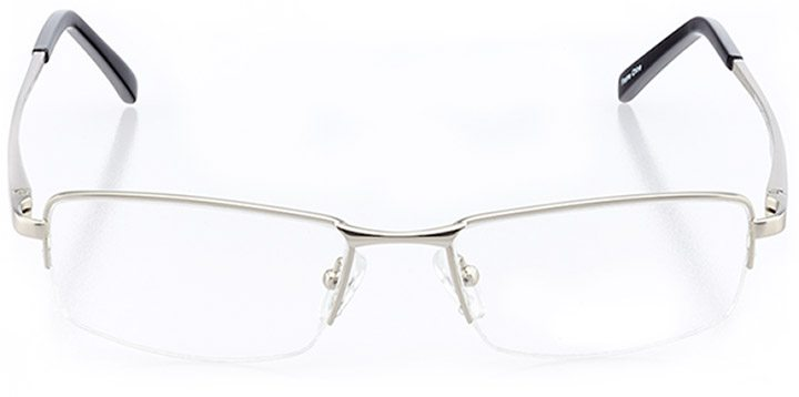 dillon beach: men's rectangle eyeglasses in gray - front view