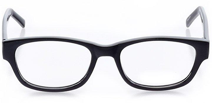 wineglass bay: women's cat eye eyeglasses in black - front view